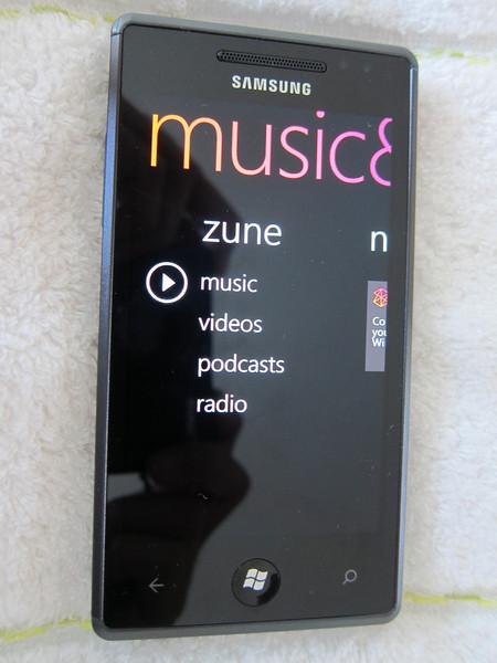 Album Art in Samsung Omnia 7