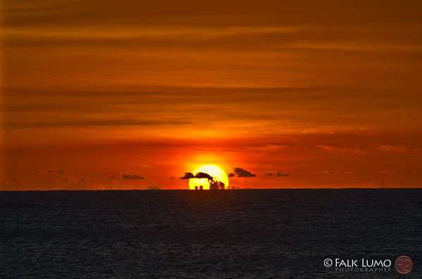 Caribbean sunset. © 2011 Falk Lumo