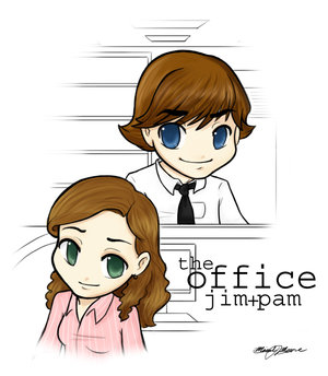 The Office Jim Pam Chibi Anime