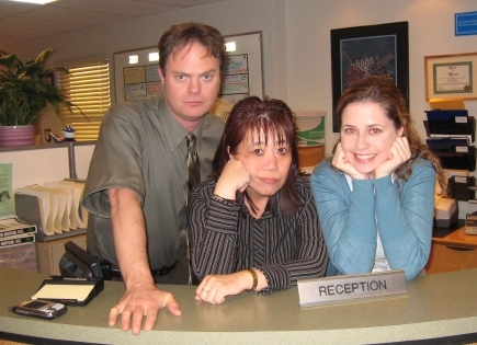 Office Set Visit Jenna Fischer Rainn Wilson