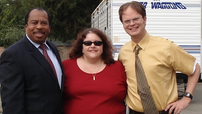 the office rainn wilson leslie david baker