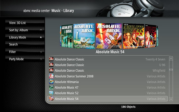 XBMC 3D Spinning Cover View