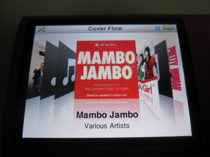 Album Art Cover Flow in iPod Nano 4th Generation