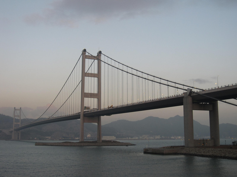 Tsing Ma Bridge in Late Afternoon