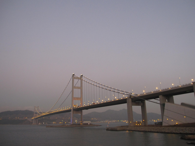 Tsing Ma Bridge in Dusk