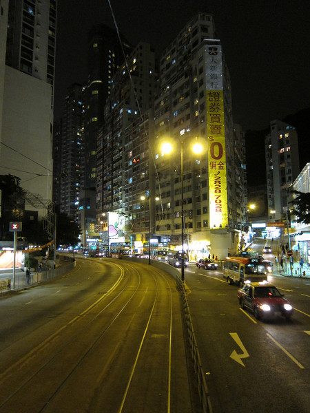 Night Shots from Hong Kong Tram Ride by Canon Powershot S90