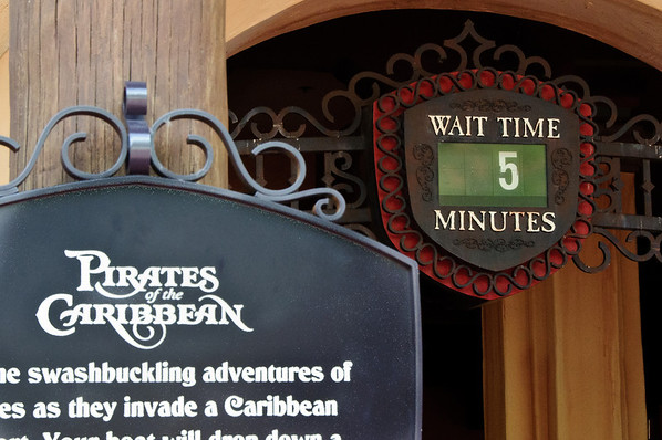 Pirates of the Caribbean wait time at Disney World's Magic Kingdom