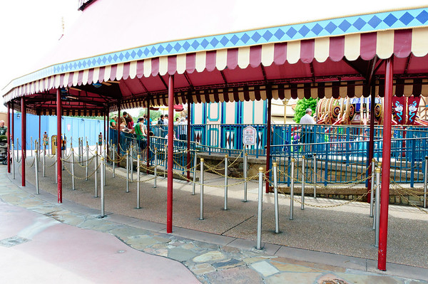 Low wait for Dumbo at Disney World's Magic Kingdom