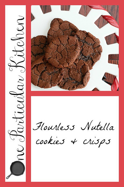 Flourless Nutella cookies and crisps