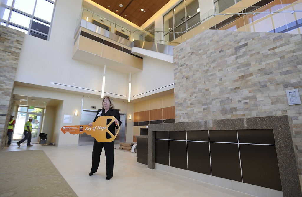 . LONG BEACH, CALIF. USA -- Cathy Kopy, executive director of the Todd Cancer Institute at Long Beach Memorial Medical Center, stands in the lobby on April 22, 2013. The new $31 million Todd Cancer Pavilion is scheduled to be unveiled to the public on Saturday, June 29 and open to patients on Monday, July 15. Photo by Jeff Gritchen / Los Angeles Newspaper Group