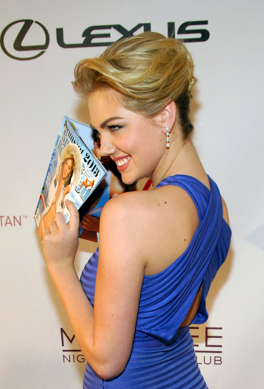 . LAS VEGAS, NV - FEBRUARY 13:  Sports Illustrated swimsuit model Kate Upton attends SI Swimsuit on Location at the Marquee Nightclub at The Cosmopolitan of Las Vegas on February 13, 2013 in Las Vegas, Nevada.  (Photo by Bryan Steffy/Getty Images)