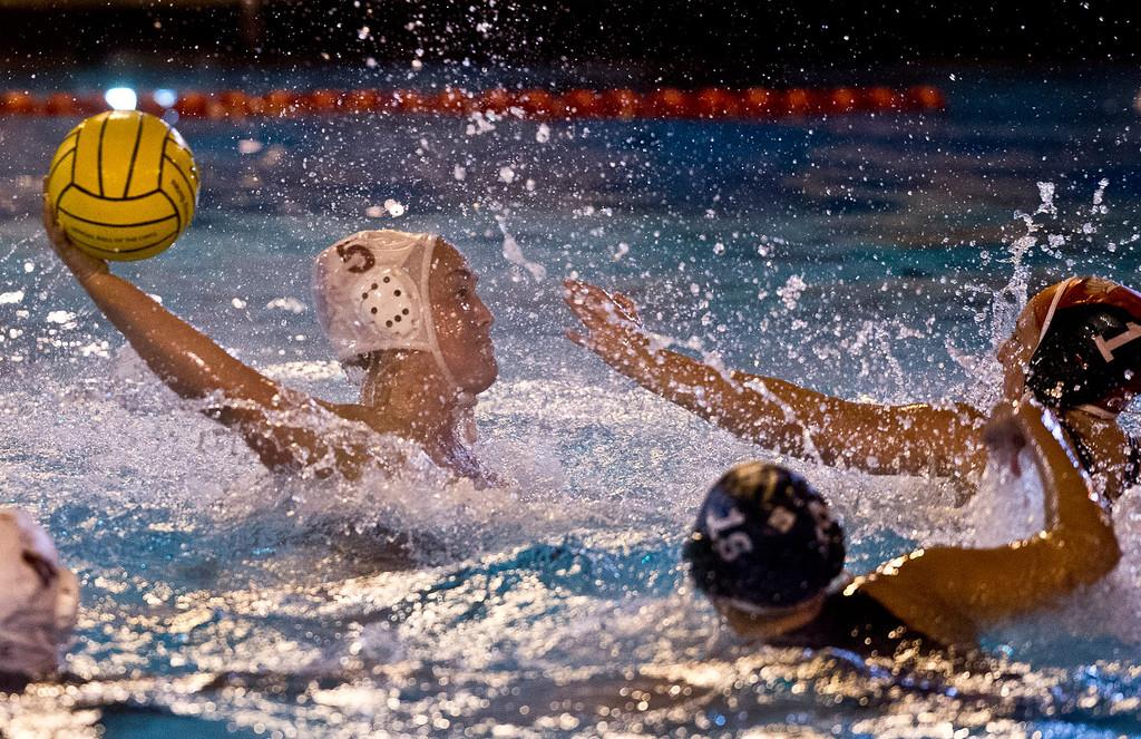 Description of . Girls Water Polo semifinals La Serna vs. Bonita, Division 4, at Pomona College on Wednesday, Feb. 20, 2013. La Serna won 10-9. (SGVN/Staff photo by Watchara Phomicinda)
