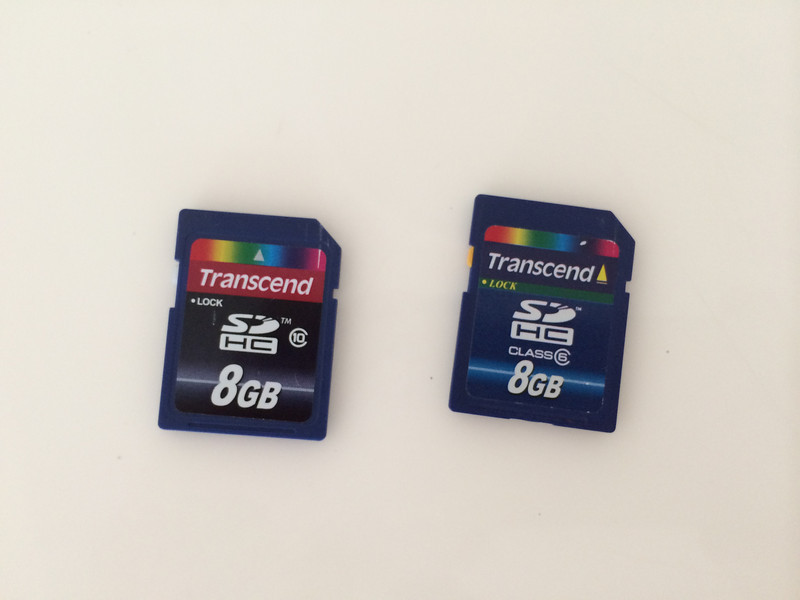 Different SD cards for Raspbmc