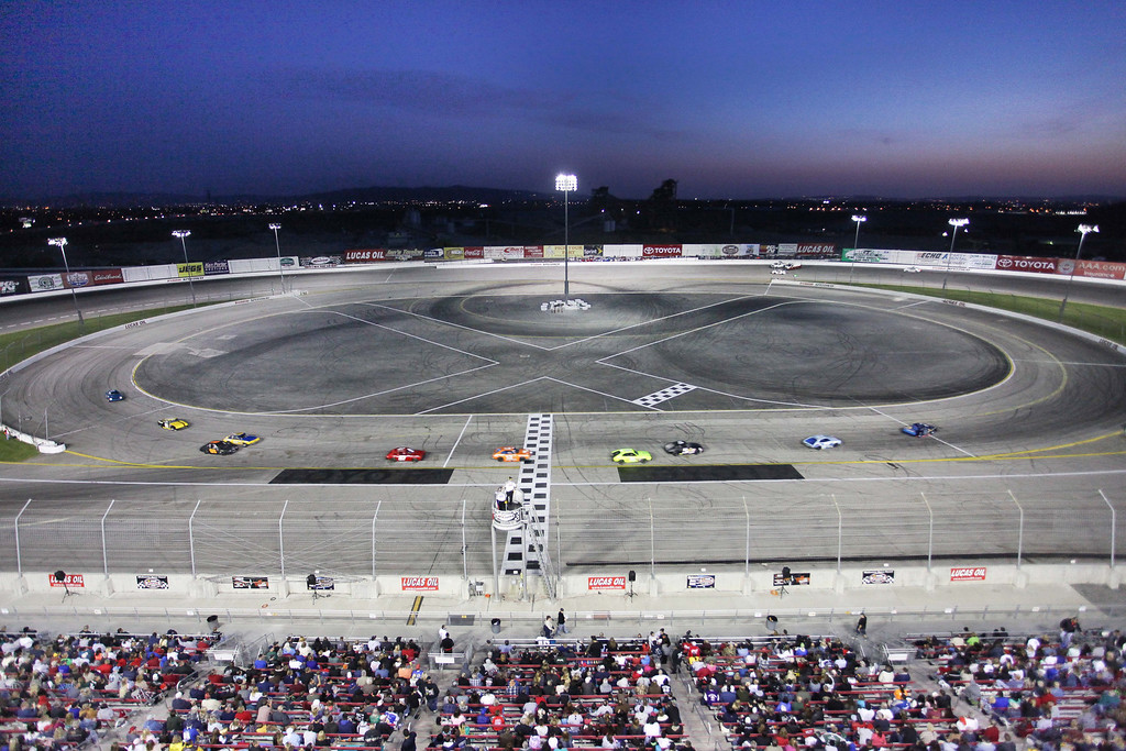 Description of . Opening night of racing at Irwindale Speedway Saturday April 6, 2013. (Correspondent photo by Chris Burt)