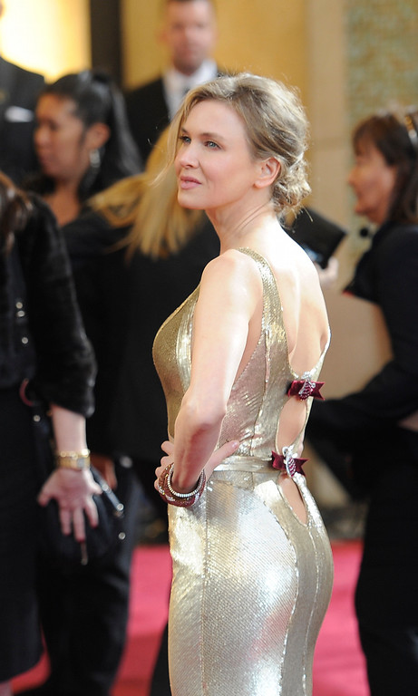 . Renée Zellweger arrives at the 85th Academy Awards at the Dolby Theatre in Los Angeles, California on Sunday Feb. 24, 2013 ( Hans Gutknecht, staff photographer)