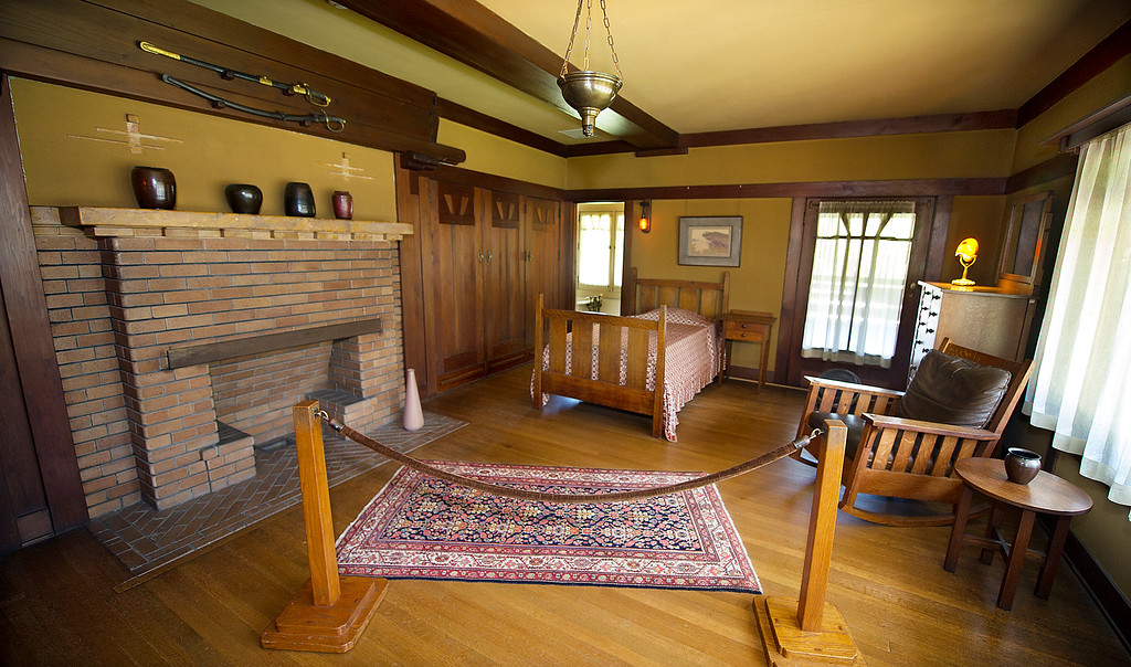 "Description of . Clarence Gamble bedroom.  Clarence was 14-years old when the Gamble House was finished Tuesday, July 16, 2013. Fans of the BBC's ""Upstairs/Downstairs"" and ""Downton Abbey"" can get a rare, behind-the-scenes look at the real deal when the Gamble House, located at  4 Westmoreland Place in Pasadena. The Gamble House opens up its servants quarters for three weeks only, beginning Aug. 1. The tour is based on new findings about the Gamble family and its servants. Part of the first floor will be closed on the tour due to renovations.(SGVN/Photo by Walt Mancini)"