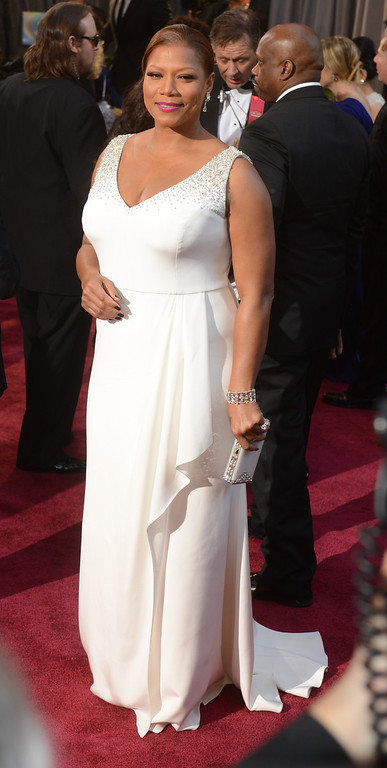 . Queen Latifah arrives at the 85th Academy Awards at the Dolby Theatre in Los Angeles, California on Sunday Feb. 24, 2013 ( Hans Gutknecht, staff photographer)