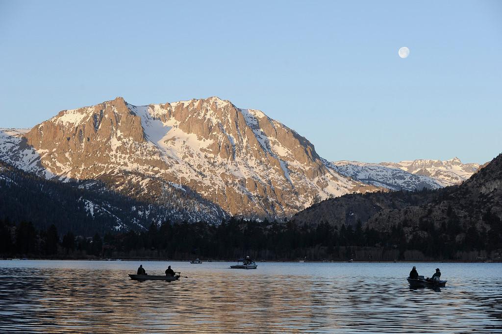 . June Lake at sunrise on opening day of Trout Fishing Season in the Eastern Sierra. June Lake, CA 4/27/2013(John McCoy/Staff Photographer)