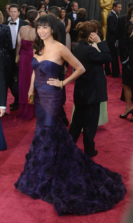. Gloria Reuben arrives at the 85th Academy Awards at the Dolby Theatre in Los Angeles, California on Sunday Feb. 24, 2013 ( Hans Gutknecht, staff photographer)