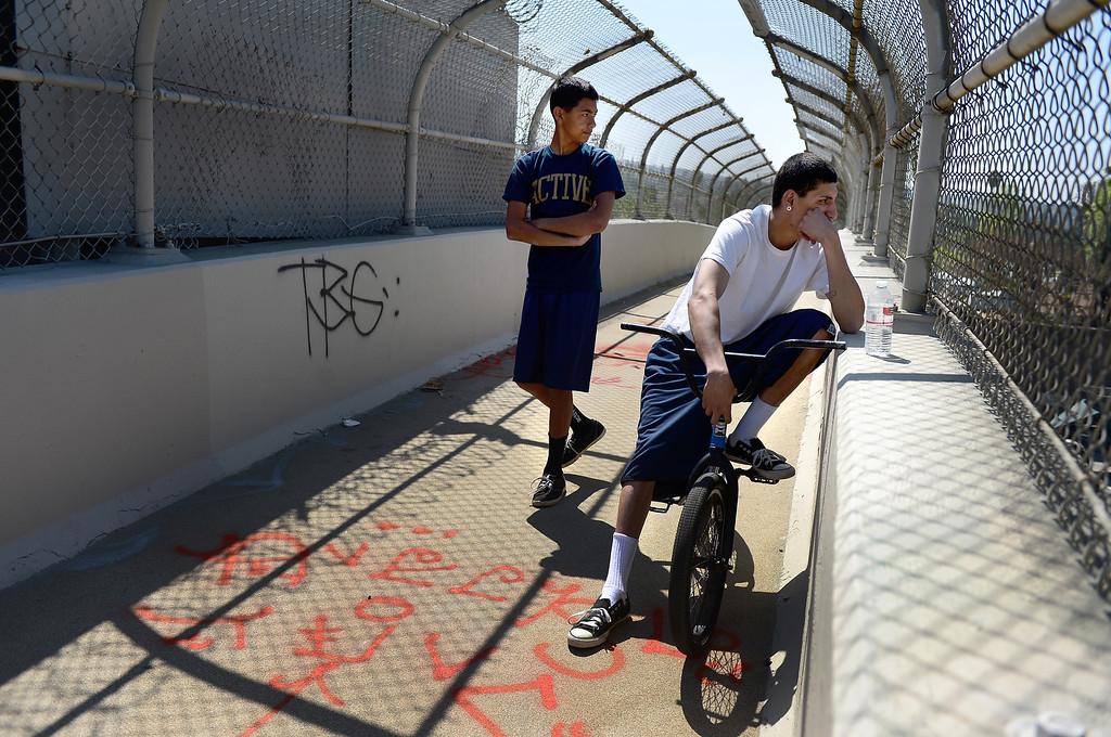 Description of . On a pedestrian bridge Cesar