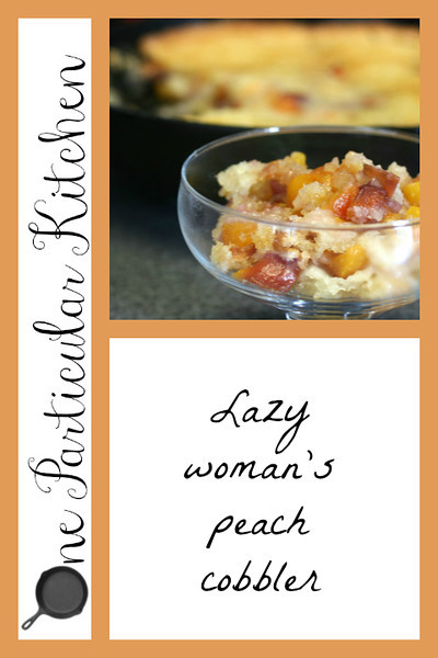 Lazy womans peach cobbler