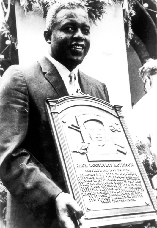 Description of . Jackie Robinson was elected to Baseball\'s Hall of Fame in 1962.  Daily News file photo