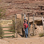Nancy exiting the Horseshoe Canyon Unit