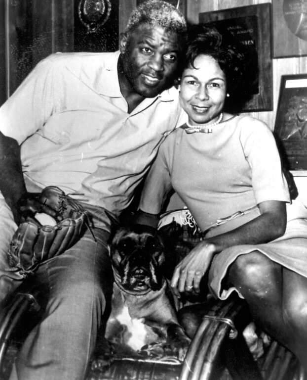 Description of . Jackie Robinson with wife, Rachel.  Daily News file photo