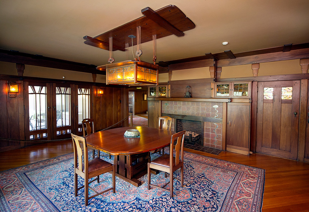 Description of . Dining room at the Gamble House Tuesday, July 16, 2013. The dining room will NOT BE PART OF THE