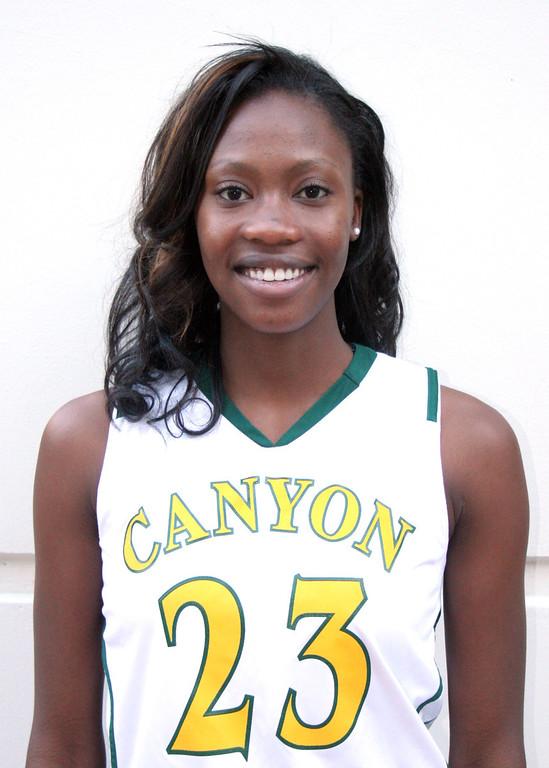 . Alia McCoy, Canyon. 2012-2013