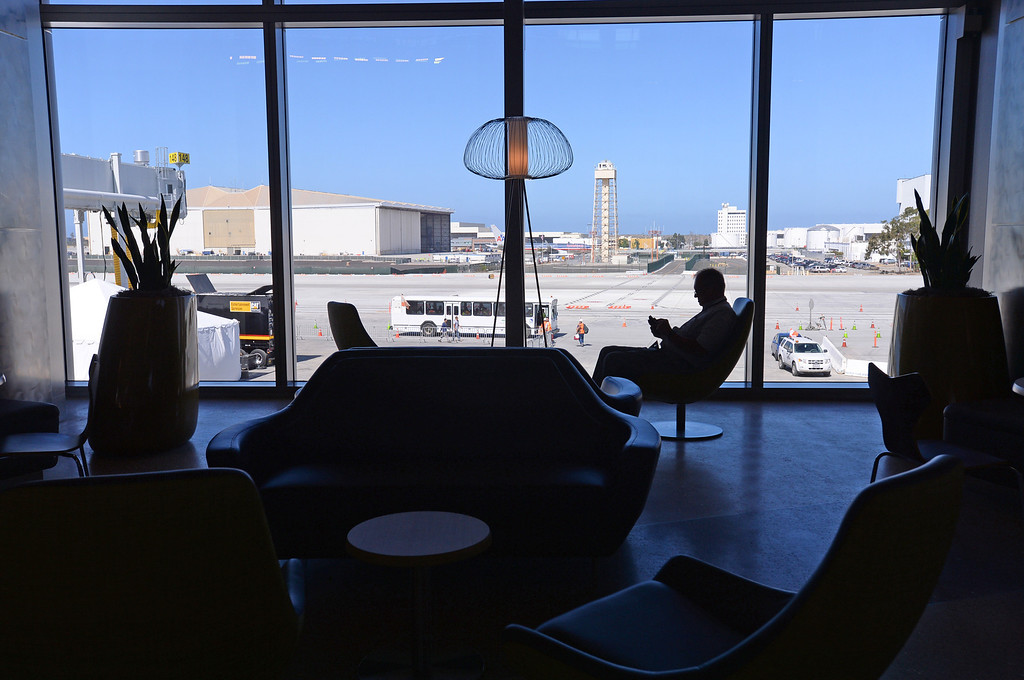 . Media preview of the new Tom Bradley International Terminal at LAX.  Photo by Brad Graverson 6-20-13