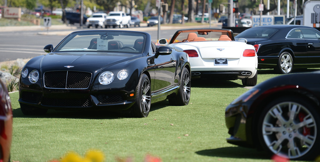 . Luxury cars at O\'Gara Coach Westlake in Thousand Oaks Wednesday, April 3, 2013. (Hans Gutknecht/Los Angeles Daily News)
