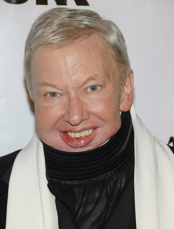 . ** FILE ** Roger Ebert is shown in this, Nov. 27, 2007, file photo in New York. (AP Photo/Evan Agostini, file)