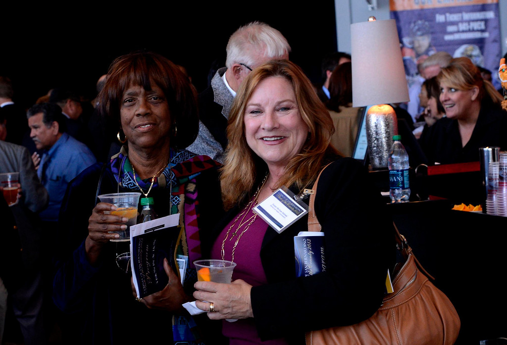 . Hundreds gather for social hour prior to the State of the County 2013 program at Citizens Bank Arena in Ontario April 10, 2013.  GABRIEL LUIS ACOSTA/STAFF PHOTOGRAPHER.