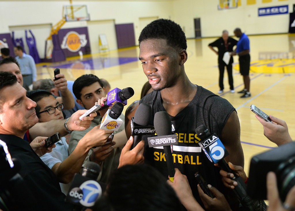 . Lakers pre-draft workout at Toyota Sports Center Wednesday June 4, 2014. Noah Vonleh,Indiana University.      Photo By  Robert Casillas / Daily Breeze