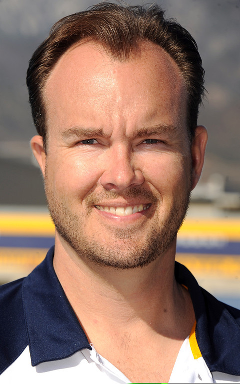 . Eric Cypher, girl\'s water polo coach at Los Osos High School has been named Coach of the Year and to the Daily Bulletin\'s All-Valley Girl\'s water polo team. Staff photo by Will Lester.