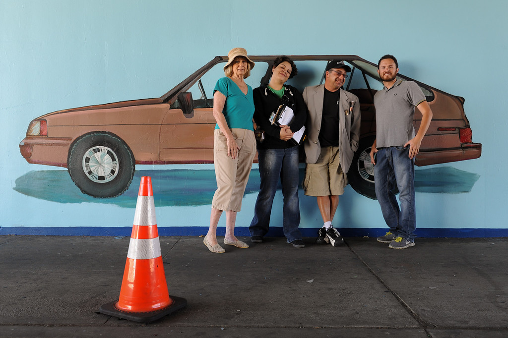 . Jan Brown, from left, Erika Tachet, Joe Nicoletti and  