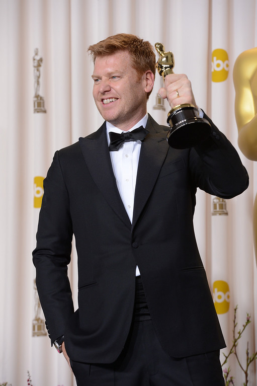 """. John Kahrs accepts the award for best animated short film for \""""Paperman\"""" backstage at the 85th Academy Awards at the Dolby Theatre in Los Angeles, California on Sunday Feb. 24, 2013 ( David Crane, staff photographer)"""