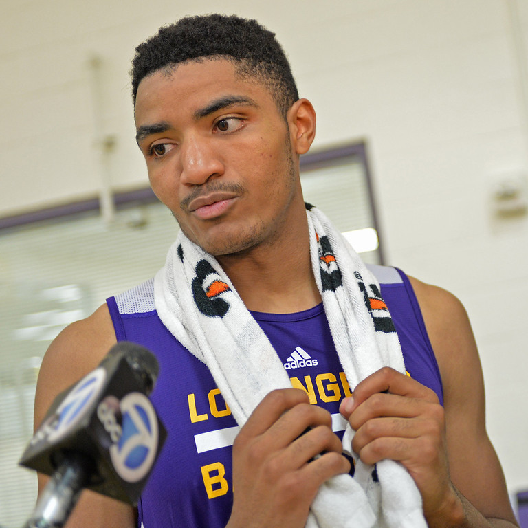 . Lakers pre-draft workout at Toyota Sports Center Wednesday June 4, 2014.  Gary Harris, Michigan St.     Photo By  Robert Casillas / Daily Breeze