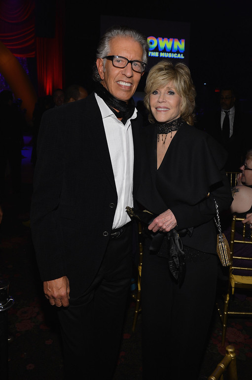 ". NEW YORK, NY - APRIL 14:  Richard Perry and Jane Fonda attend the ""Motown: The Musical\"" Opening Night After Party at Roseland Ballroom on April 14, 2013 in New York City.  (Photo by Larry Busacca/Getty Images for Sony Music)"