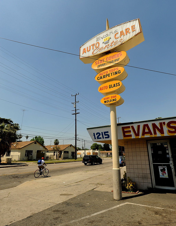 . A view of Evan\'s Auto Care as seen on the corner of North Sierra Way and Baseline Street in San Bernardino April 22, 2013.   GABRIEL LUIS ACOSTA/STAFF PHOTOGRAPHER.