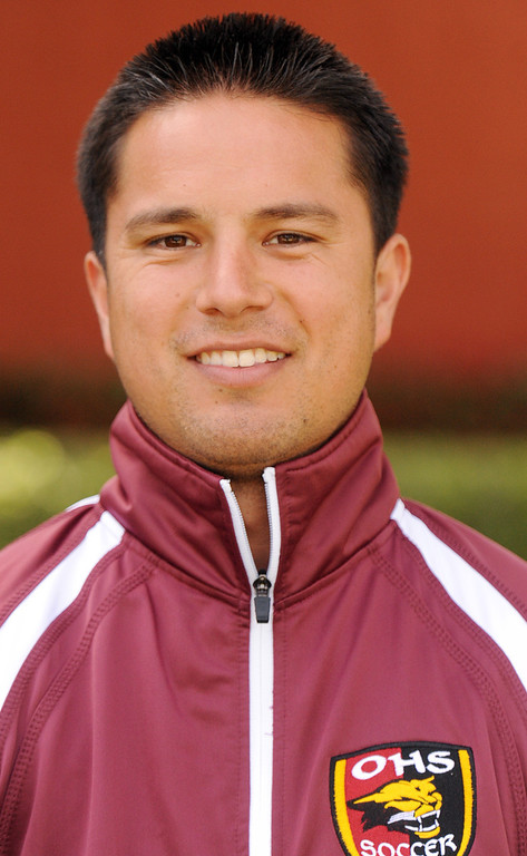 Description of . Moses Venegas boys soccer coach for Ontario High School is coach of the year and has been named to The Sun's All-Valley Boy's soccer team. Will Lester staff photo.