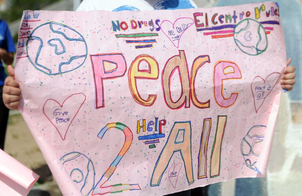 Description of . The El Centro de Accion Social Annual Cesar Chavez Commemoration and Peace Walk at the Villa-Parke Community Center on Saturday, March 30, 2013 in Pasadena, Calif.  (Keith Birmingham Pasadena Star-News)