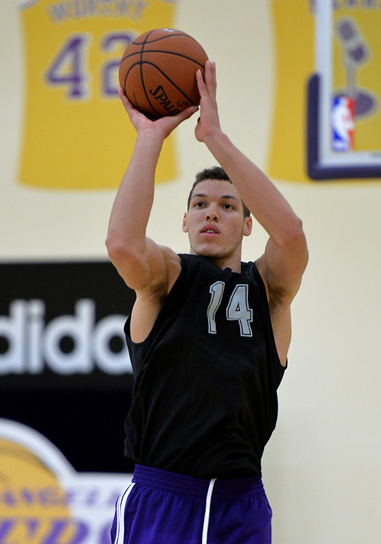 . Lakers pre-draft workout at Toyota Sports Center Wednesday June 4, 2014. Aaron Gordon, Univ of Arizona.      Photo By  Robert Casillas / Daily Breeze