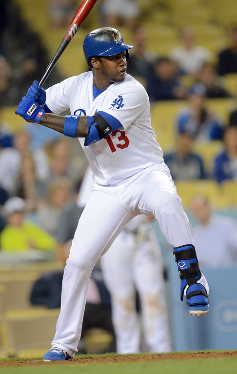 . Hanley Ramirez pinch hits in the 7th inning for the Dodgers April 29, 2013 in Los Angeles, CA.(Andy Holzman/Staff Photographer)