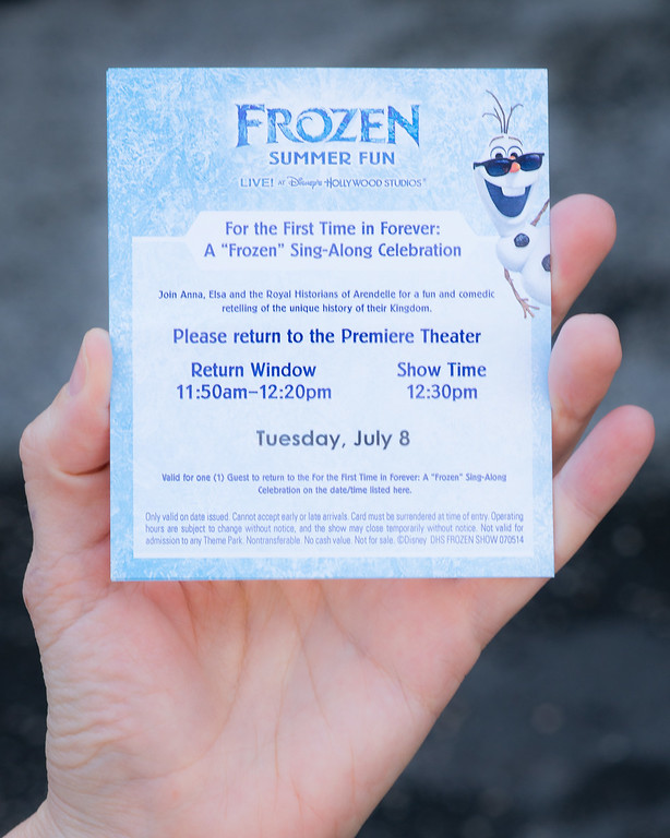 Get tickets before the show for the Frozen Sing-Along Celebration