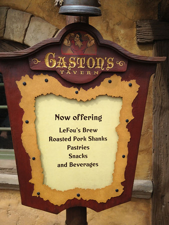 Gaston's Tavern Menu - Short