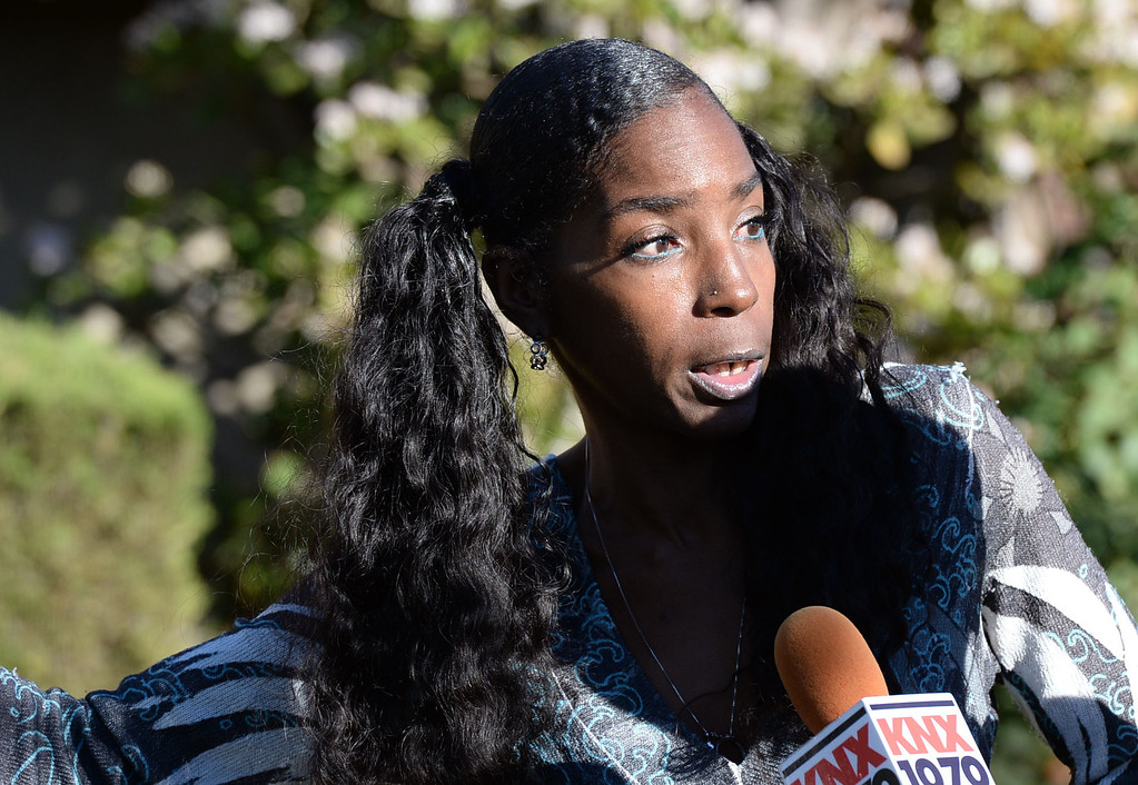 . A man allegedly shot an Inglewood police officer Wednesday, November 27, 2013, in Inglewood, CA, and the took hostages as he barricaded inside a house on S. 5th Avenue.  Kimberly Edwards witnessed the incident. Photo by Steve McCrank/DailyBreeze