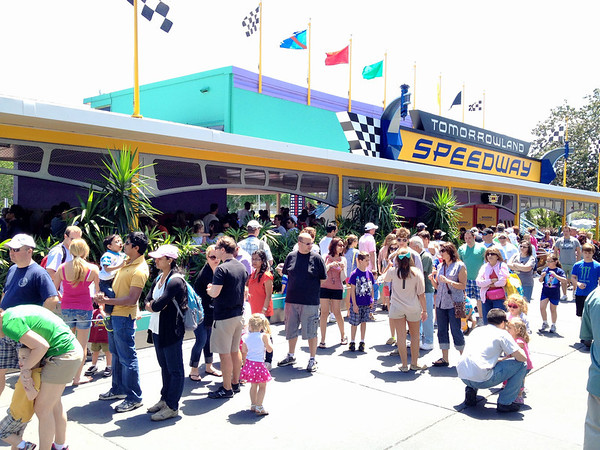 Tomorrowland Speedway Crowds - Magic Kingdom