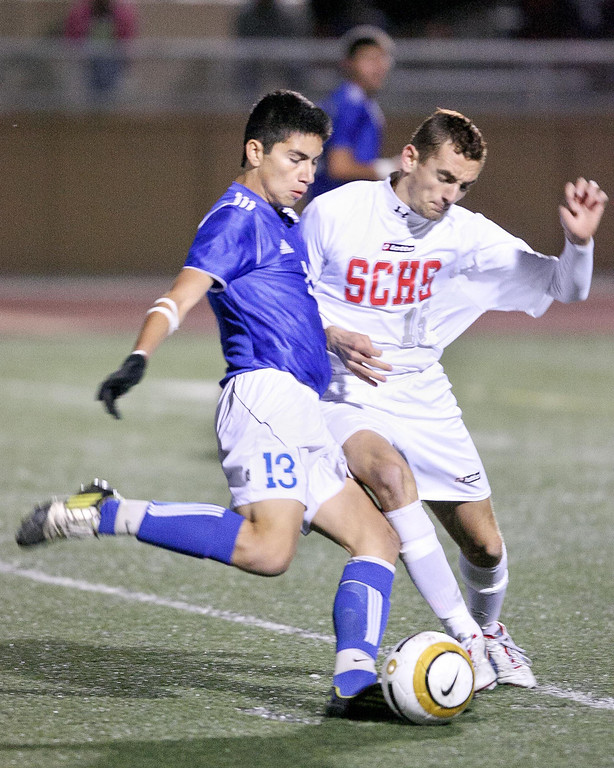 Description of . Sport action from the CIF Division 1 Championship game between El Rancho and San Clemente at Warren High School in Downey, Saturday March 9, 2013. El Rancho went on to capture the championship 3-0. (Correspondent photo by Chris Burt/Sports)